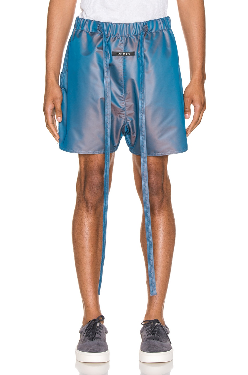Image 1 of Fear of God Military Training Short in Blue Iridescent