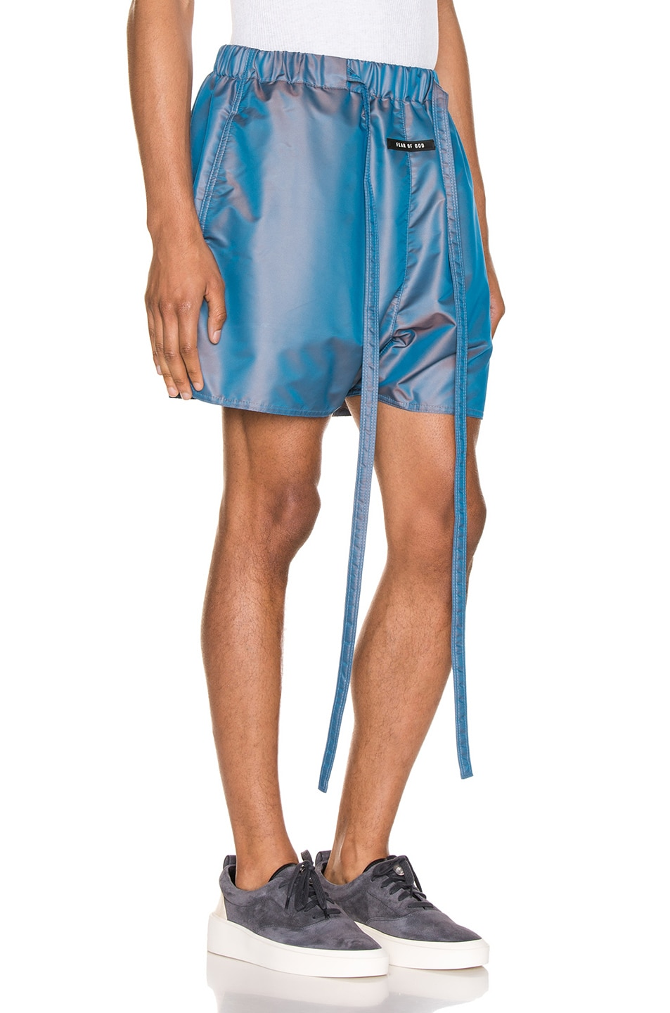 Image 2 of Fear of God Military Training Short in Blue Iridescent