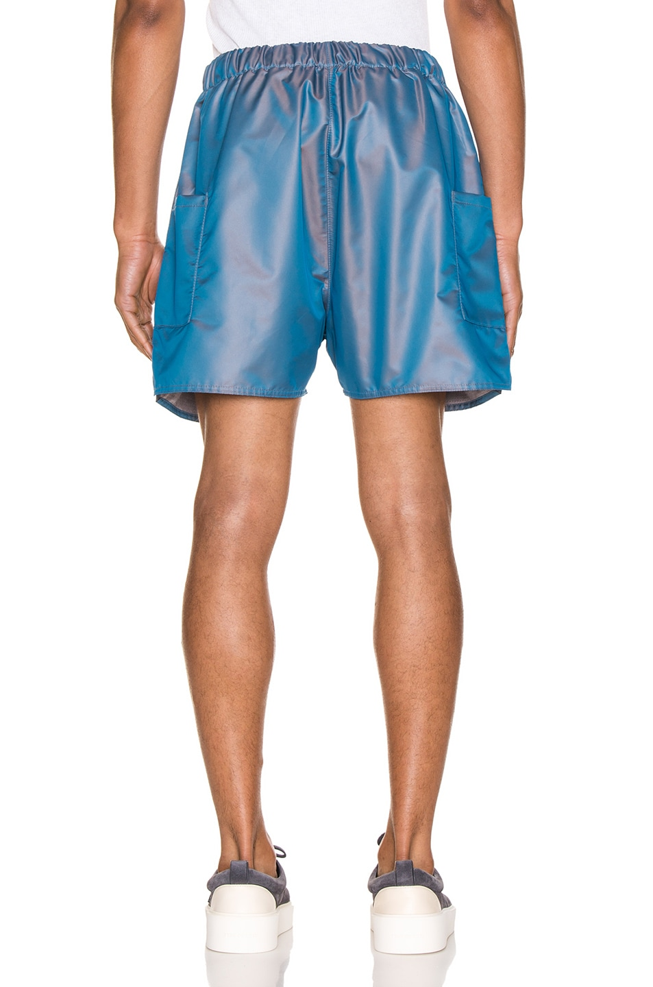 Image 3 of Fear of God Military Training Short in Blue Iridescent