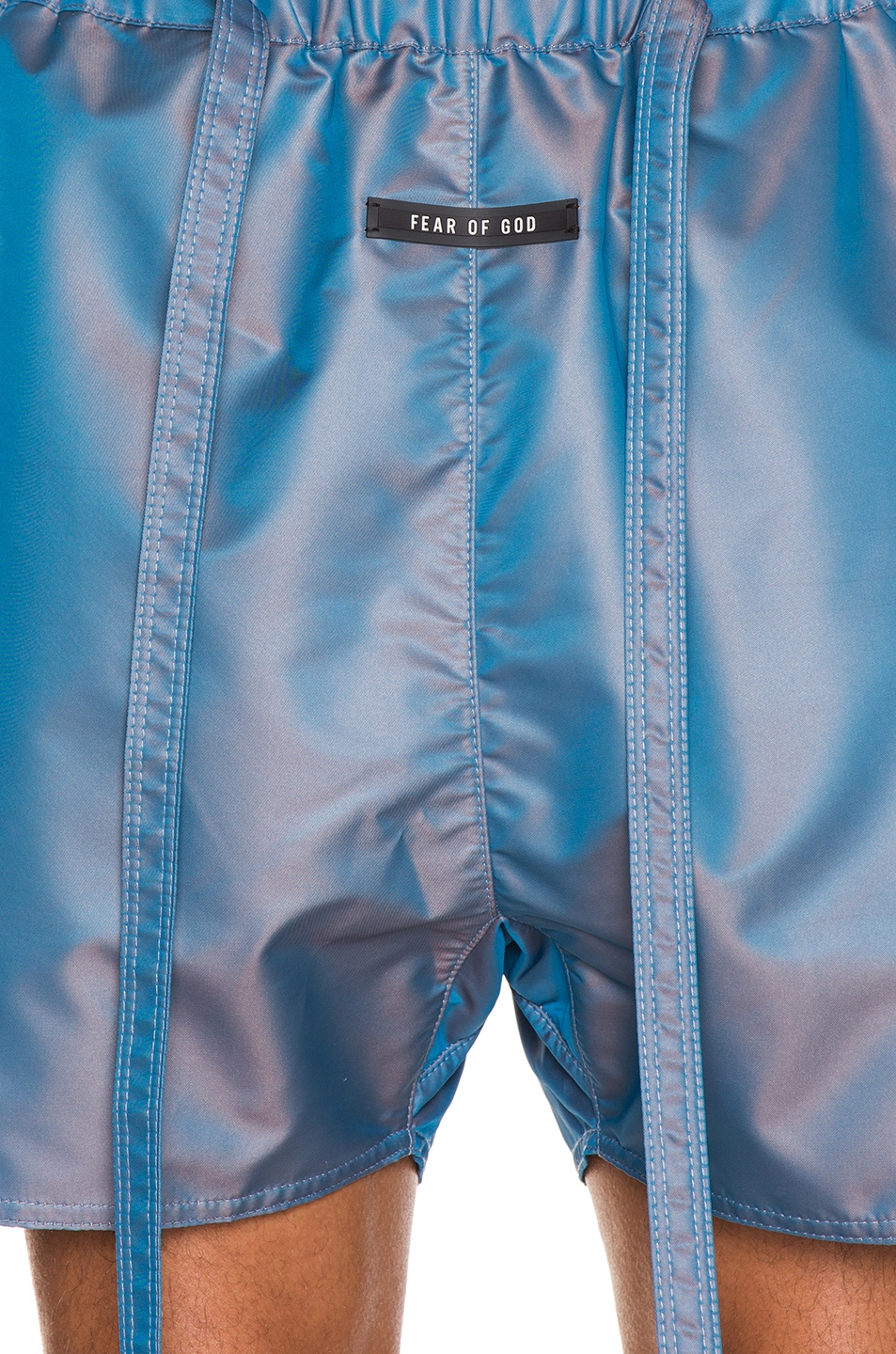 Image 5 of Fear of God Military Training Short in Blue Iridescent