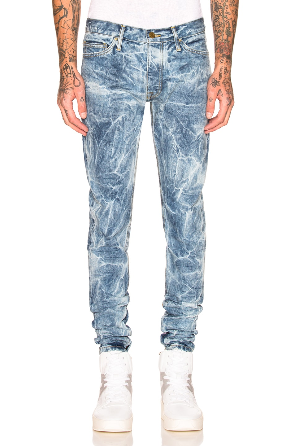 4474b7be Image 1 of Fear of God Selvedge Denim Holy Water Jeans in Indigo