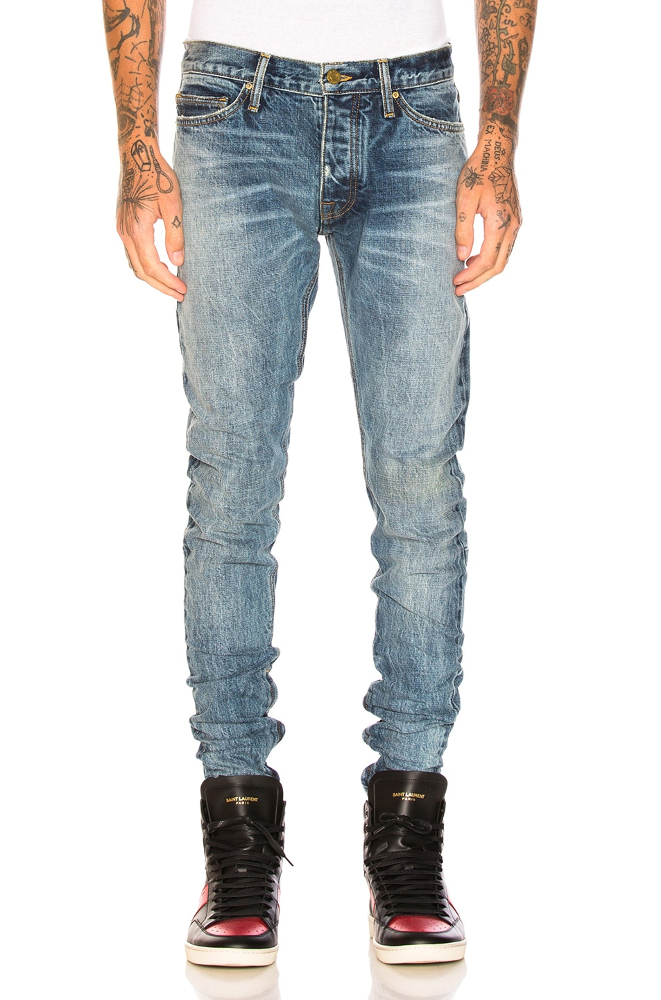 4f8b78bda5b6 FEAR OF GOD VINTAGE SELVEDGE DENIM JEANS