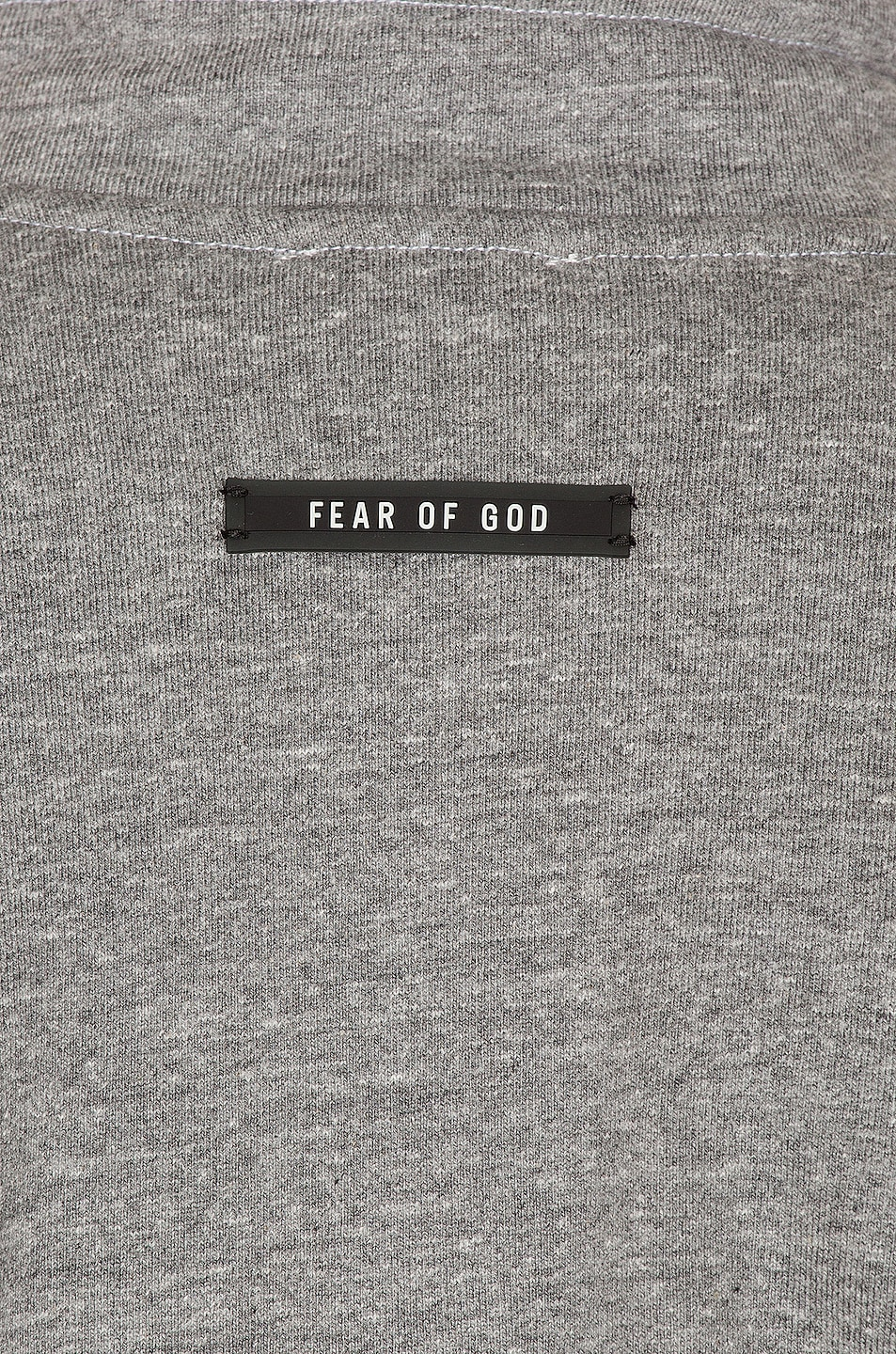 Image 5 of Fear of God Mock Neck FG Pullover in Heather Grey & Black