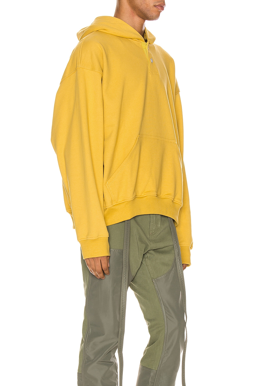 Image 2 of Fear of God Everyday Henley Hoodie in Garden Glove Yellow