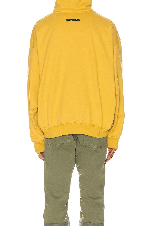 Image 4 of Fear of God Everyday Henley Hoodie in Garden Glove Yellow