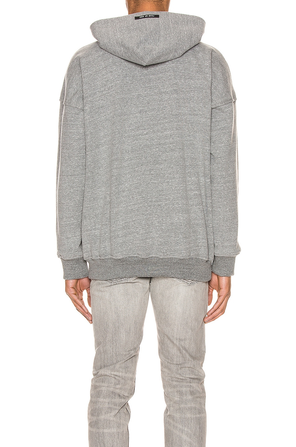 Image 3 of Fear of God Everyday FG Hoodie in Heather Grey & Black