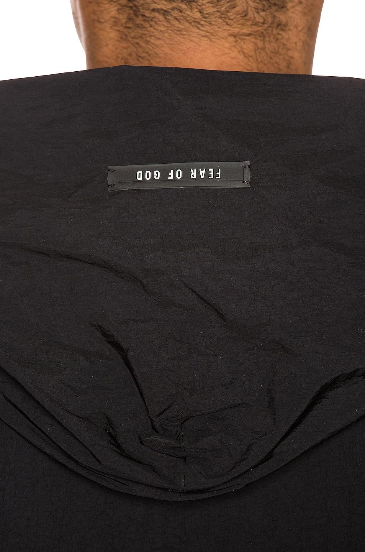 Image 6 of Fear of God Logo Nylon Hooded Rain Jacket in Black