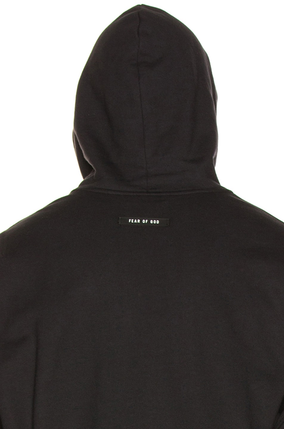 Image 5 of Fear of God Everyday Henley Hoodie in Vintage Black