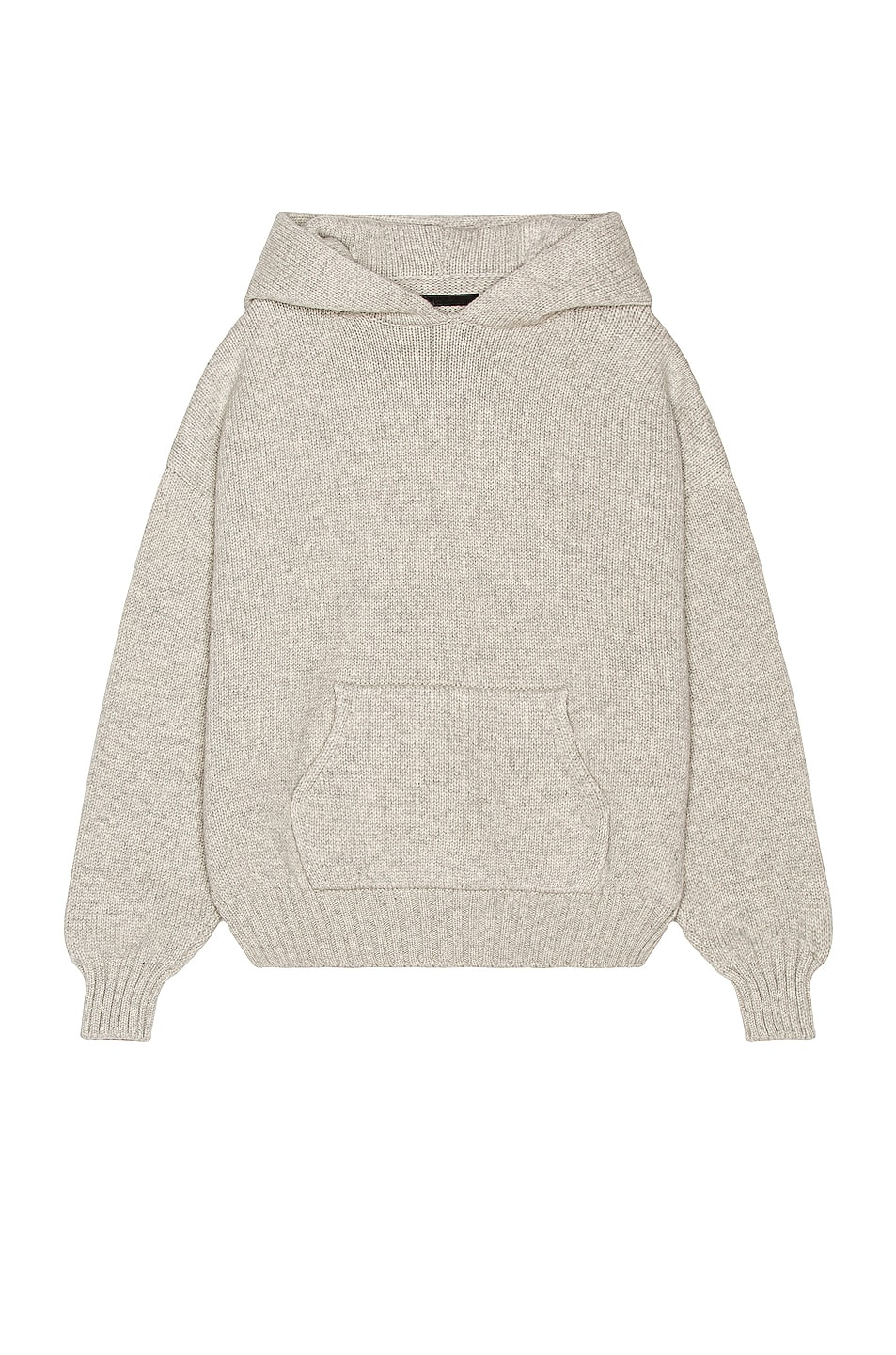 Image 1 of Fear of God Knit Hoodie in Light Heather Grey