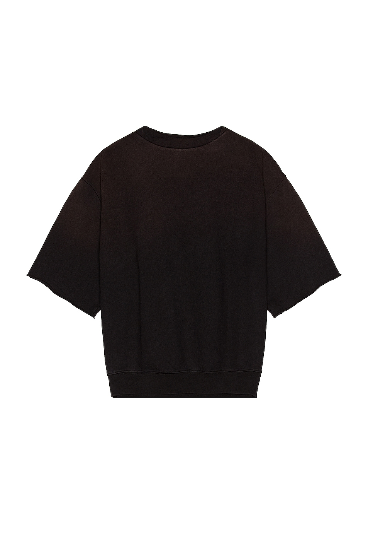 Image 1 of Fear of God Overlapped 3/4 Sleeve Sweatshirt in Vintage Black