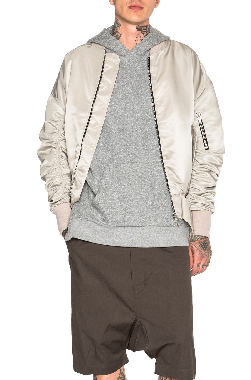 Image 1 of Fear of God Nylon Bomber Jacket in Silver