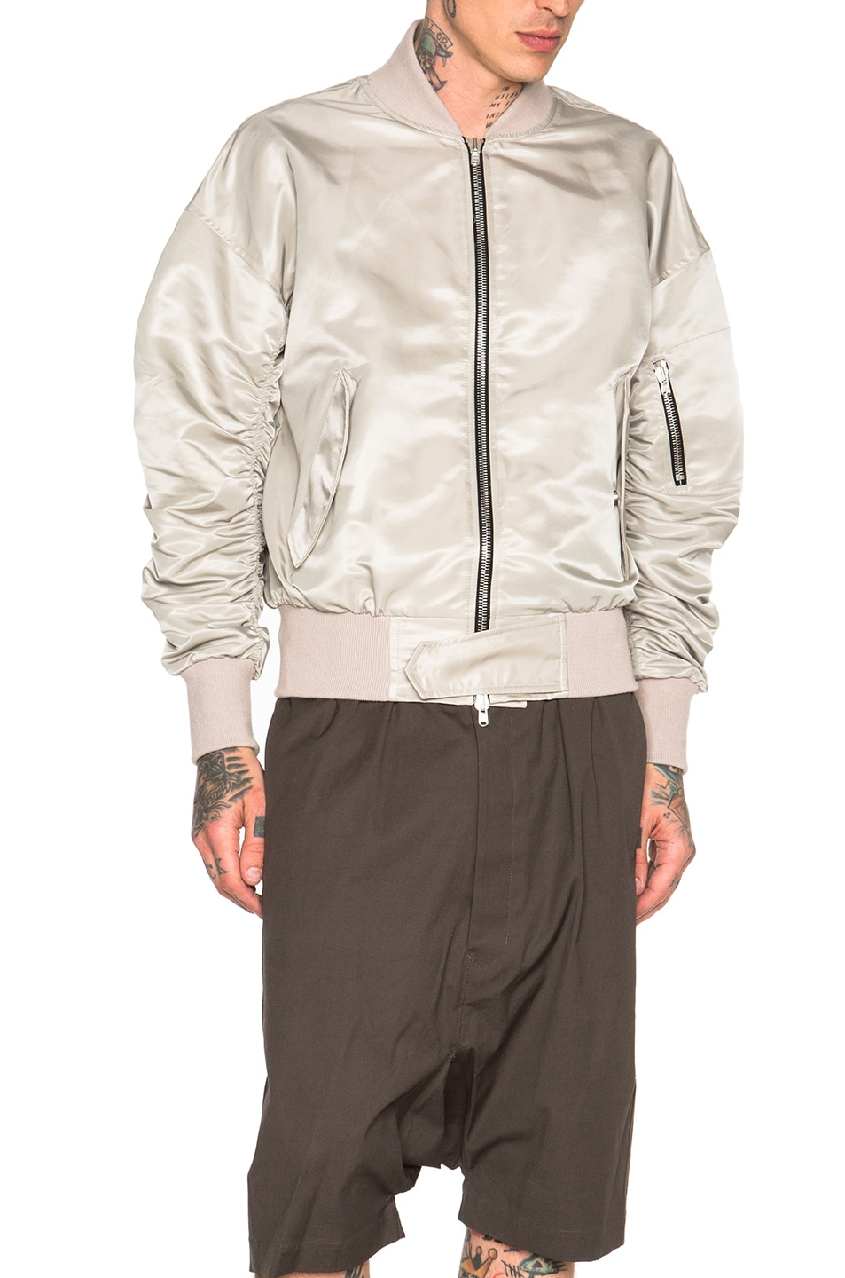 Image 2 of Fear of God Nylon Bomber Jacket in Silver
