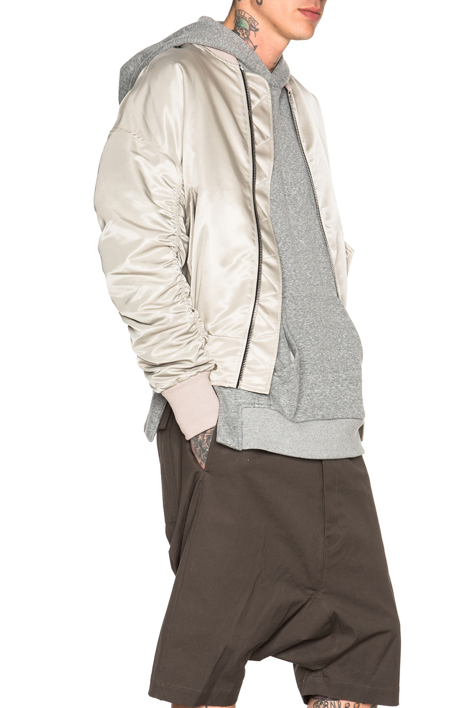Image 4 of Fear of God Nylon Bomber Jacket in Silver
