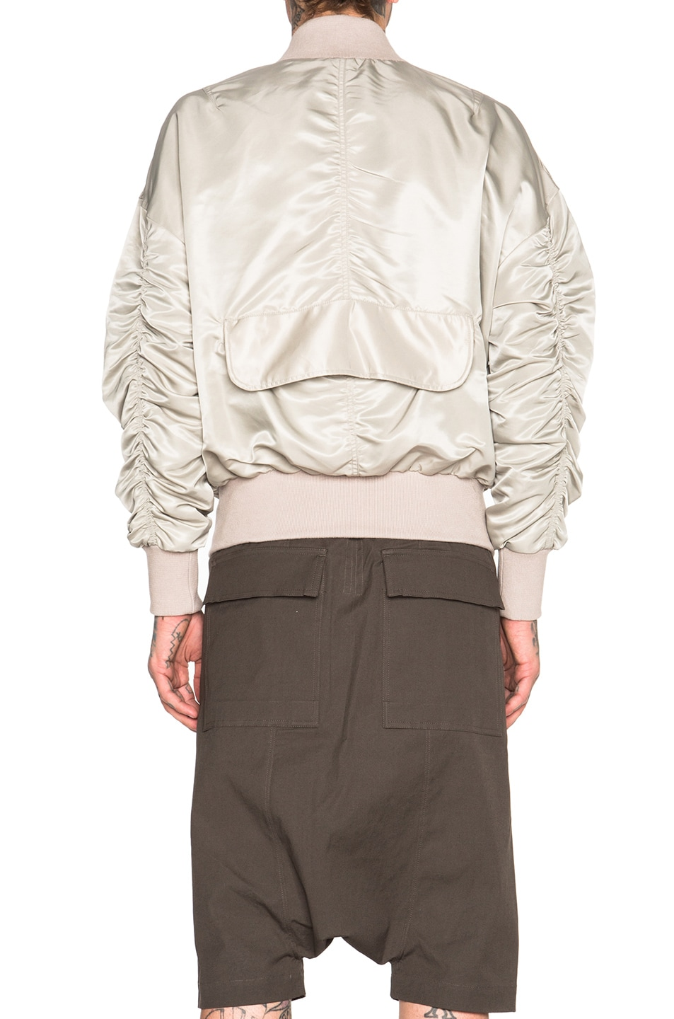Image 5 of Fear of God Nylon Bomber Jacket in Silver