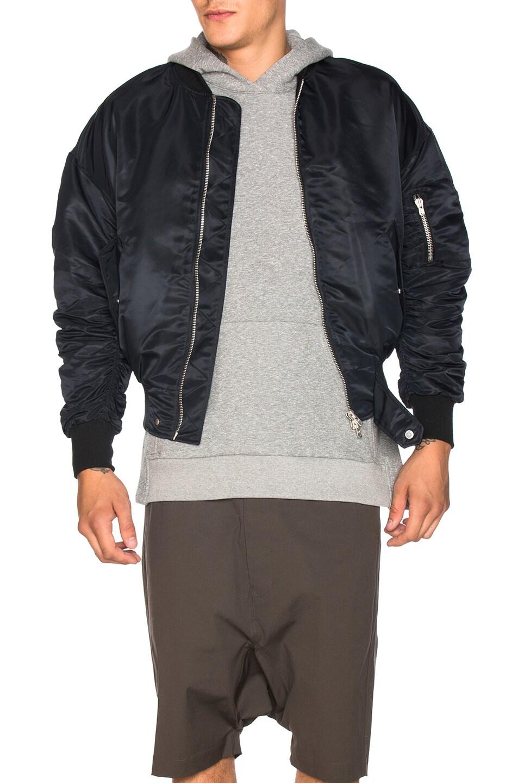 Image 1 of Fear of God Nylon Bomber Jacket in Black