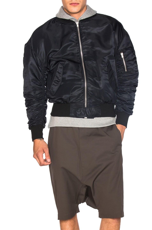 Image 2 of Fear of God Nylon Bomber Jacket in Black