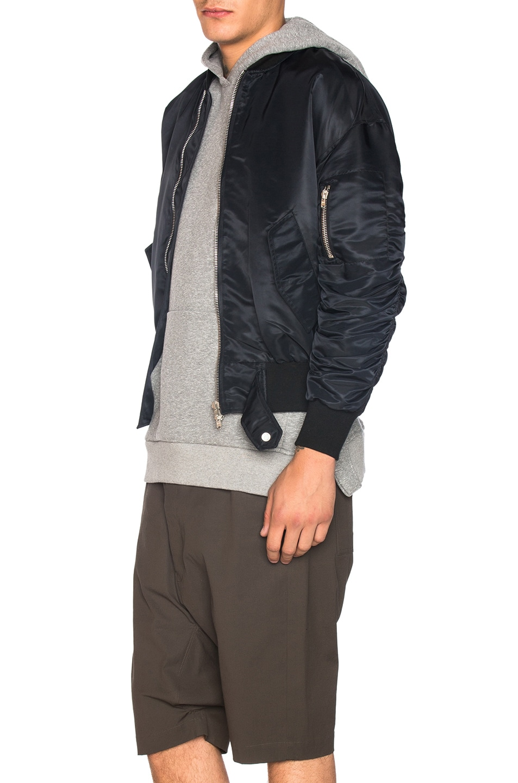 Image 3 of Fear of God Nylon Bomber Jacket in Black