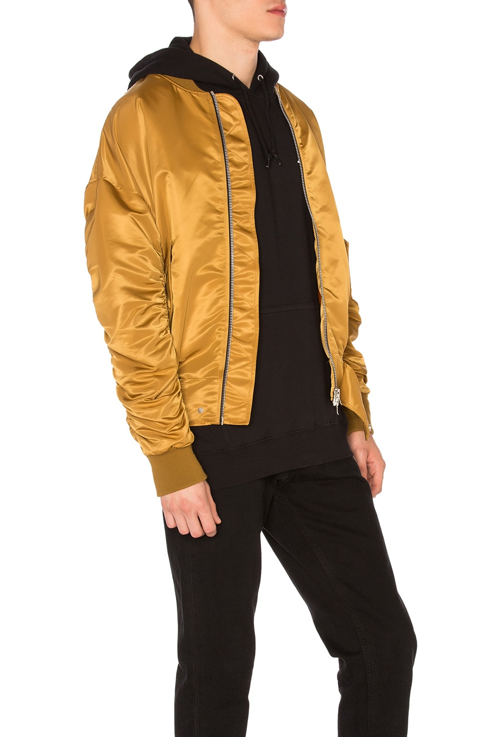 Gold bomber jacket