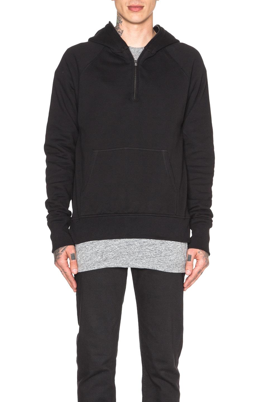 Fear of God Half Zip Hoodie in Black | FWRD
