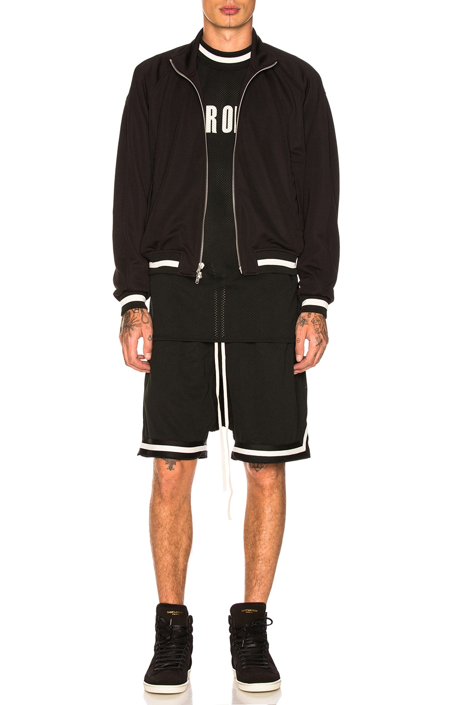 Image 5 of Fear of God Double Knit Track Jacket in Black