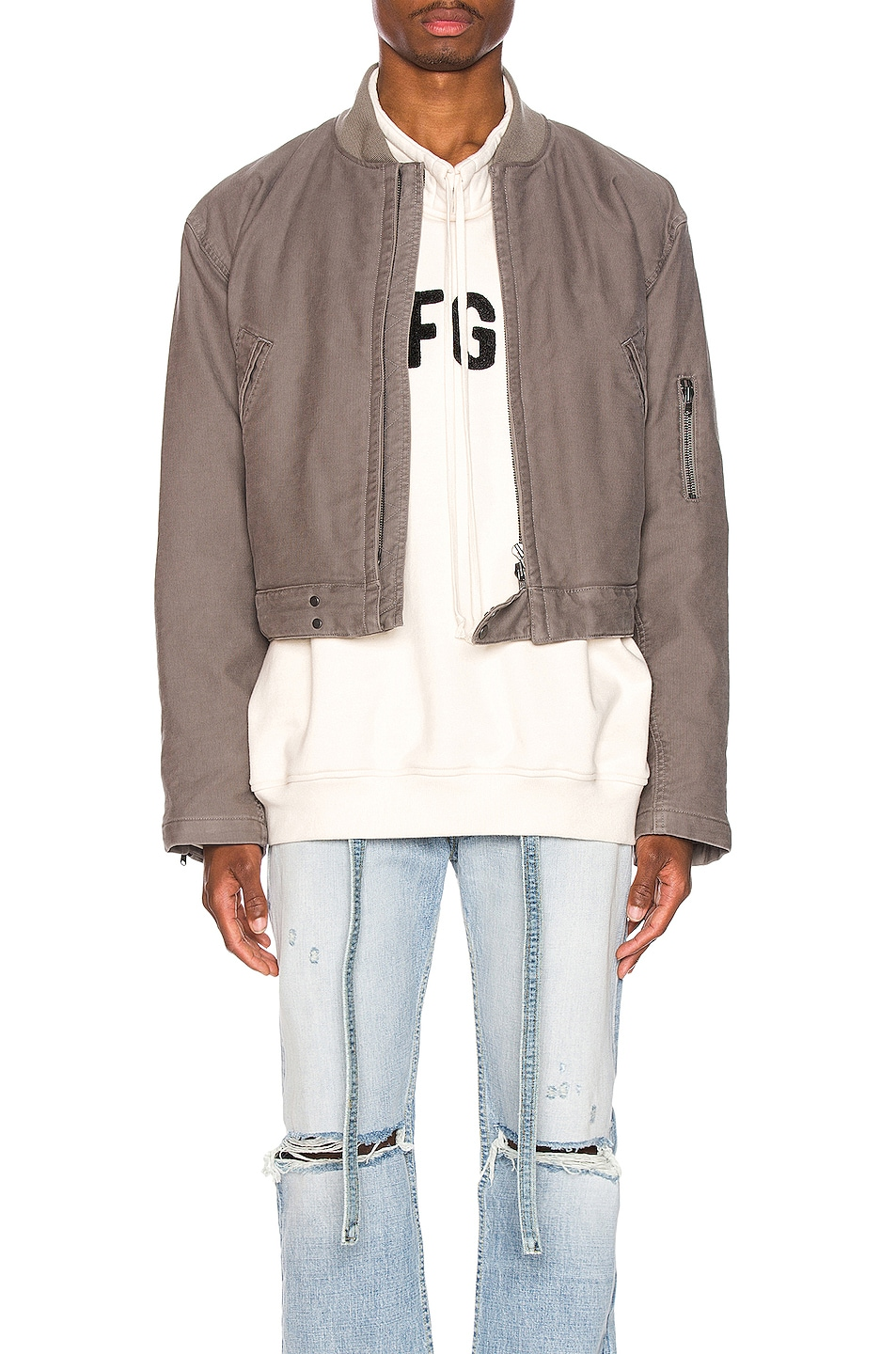 Fear of God 6th Collection Bomber Jacket God Grey hot sale