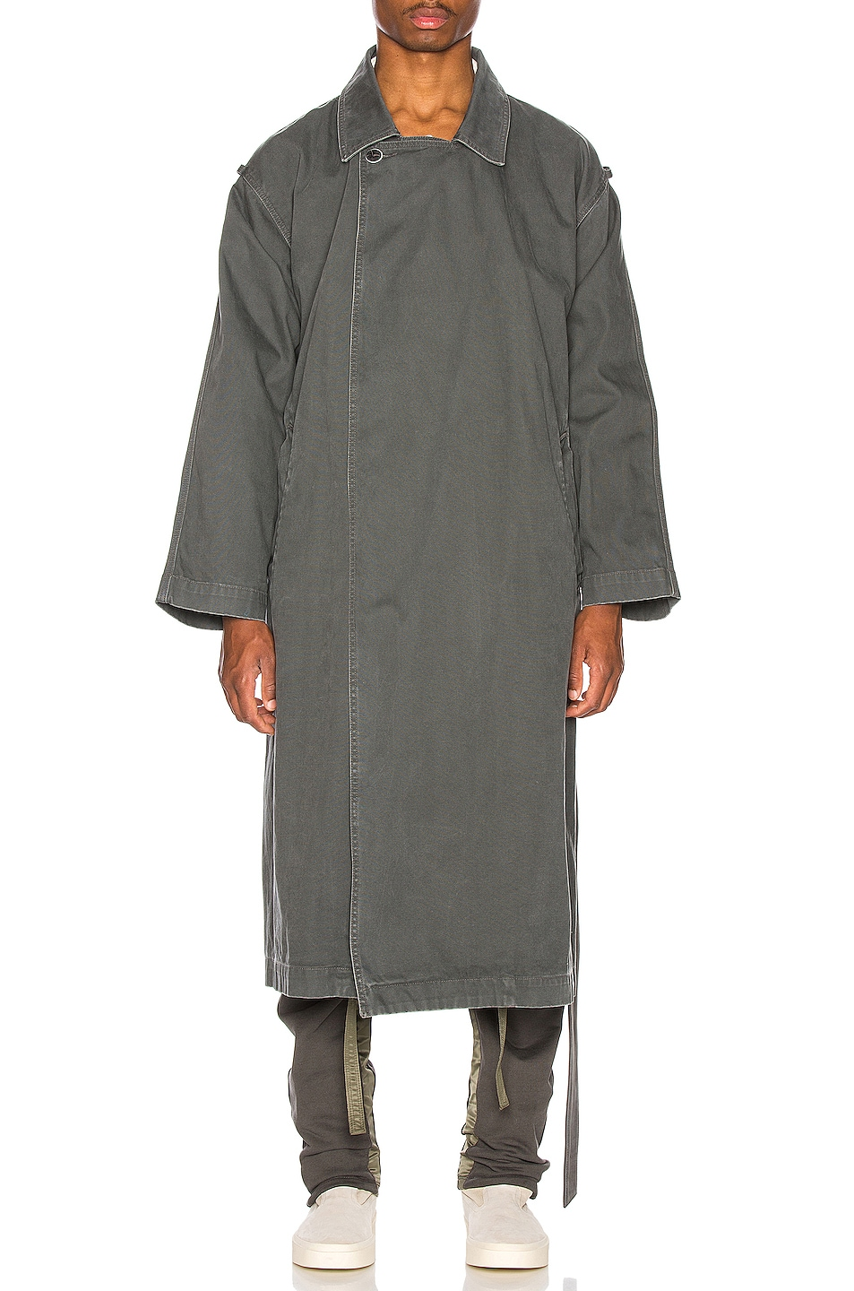 Image 2 of Fear of God Canvas Trenchcoat in Seaweed