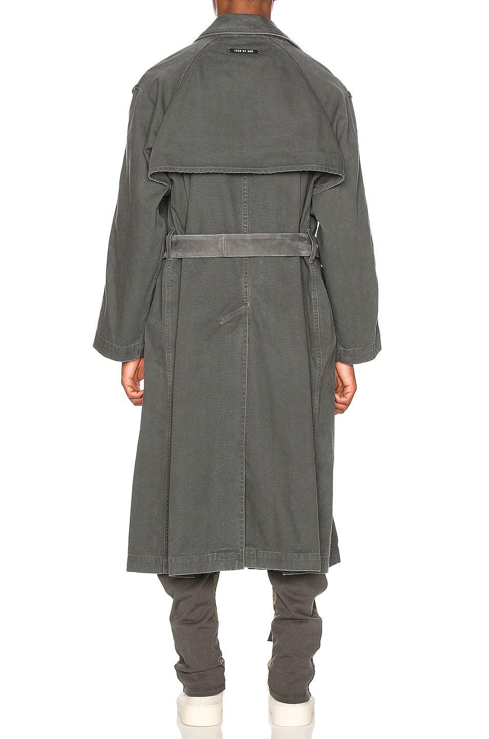 Image 4 of Fear of God Canvas Trenchcoat in Seaweed
