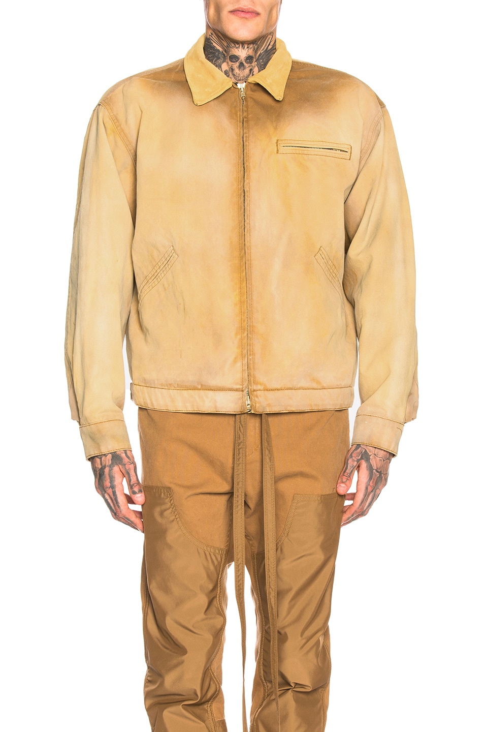 Image 2 of Fear of God Canvas Work Jacket in Rust