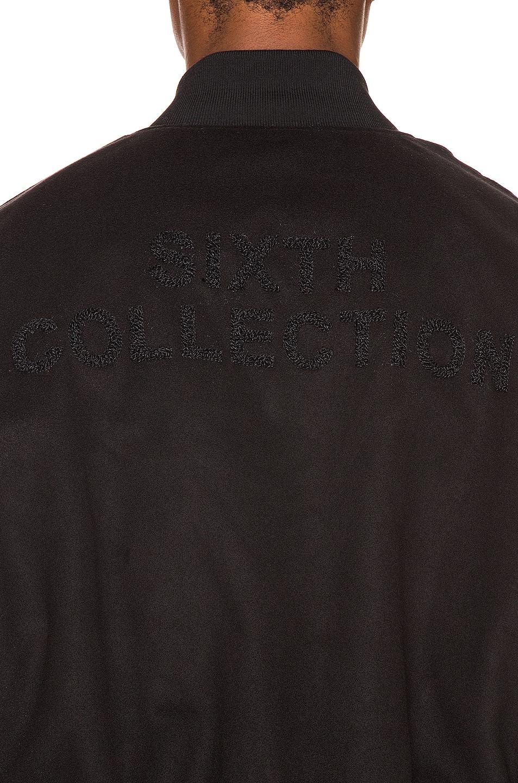 Image 6 of Fear of God 6th Collection Varsity Jacket in Vintage Black & Black