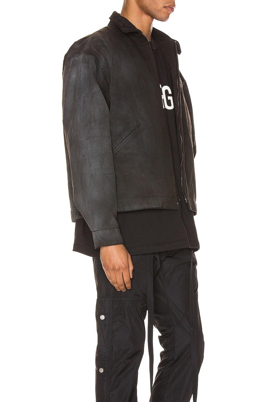 Image 3 of Fear of God Canvas Work Jacket in Black & Vintage Black