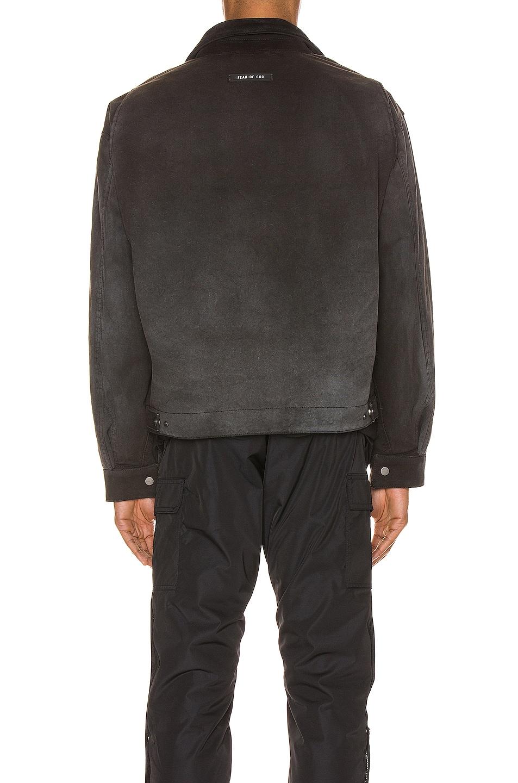 Image 4 of Fear of God Canvas Work Jacket in Black & Vintage Black