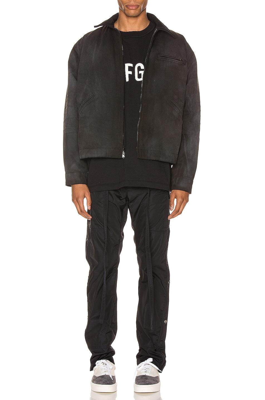 Image 5 of Fear of God Canvas Work Jacket in Black & Vintage Black
