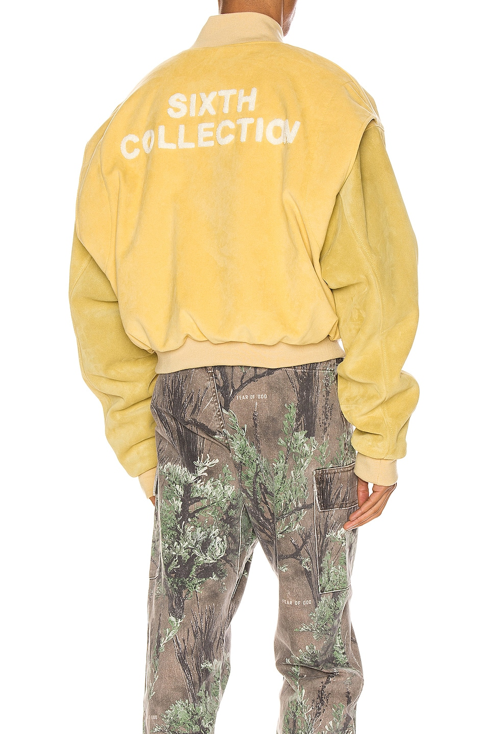 Image 1 of Fear of God 6th Collection Varsity Jacket in Garden Glove Yellow
