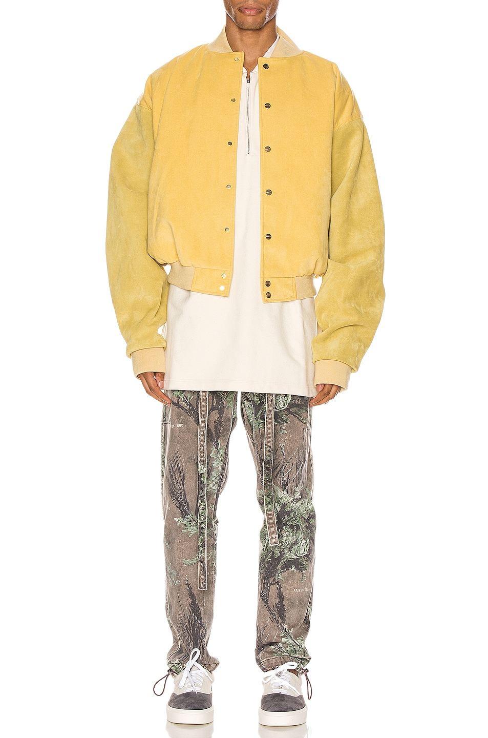 Image 6 of Fear of God 6th Collection Varsity Jacket in Garden Glove Yellow