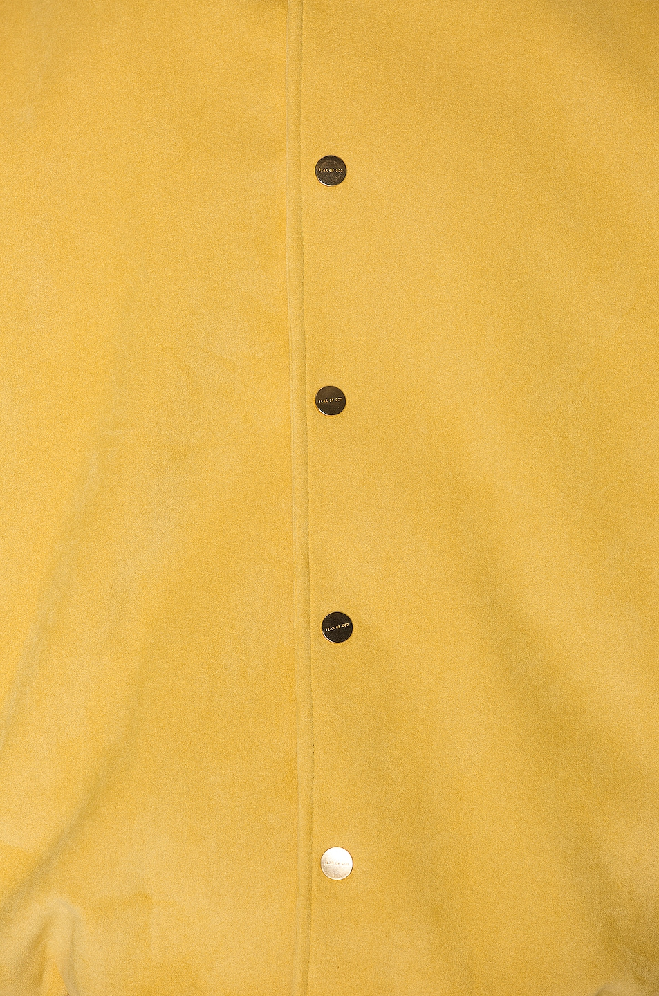 Image 7 of Fear of God 6th Collection Varsity Jacket in Garden Glove Yellow
