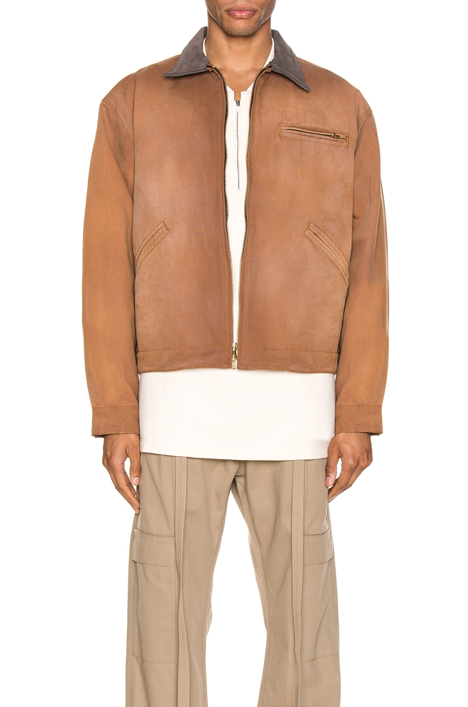 Image 1 of Fear of God Canvas Work Jacket in Brick & Brown