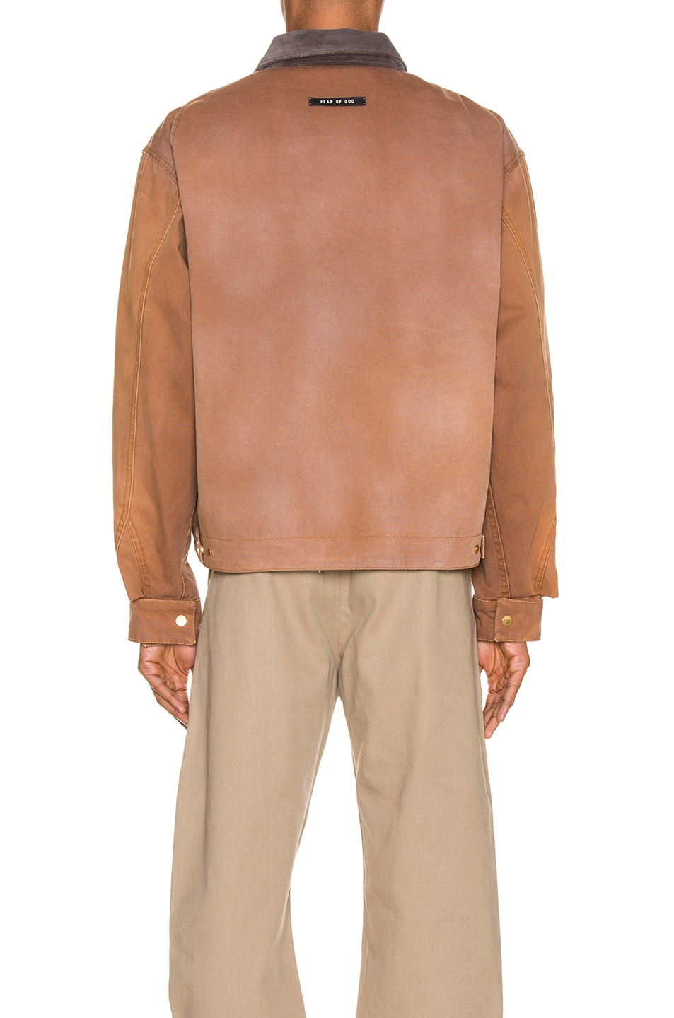 Image 4 of Fear of God Canvas Work Jacket in Brick & Brown
