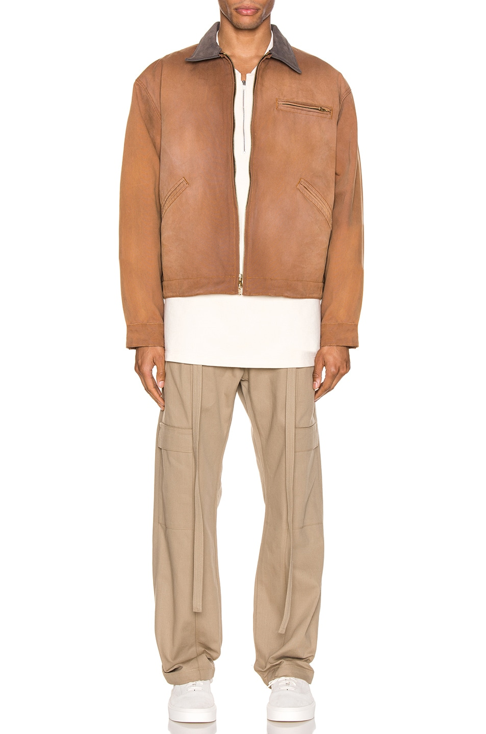Image 5 of Fear of God Canvas Work Jacket in Brick & Brown