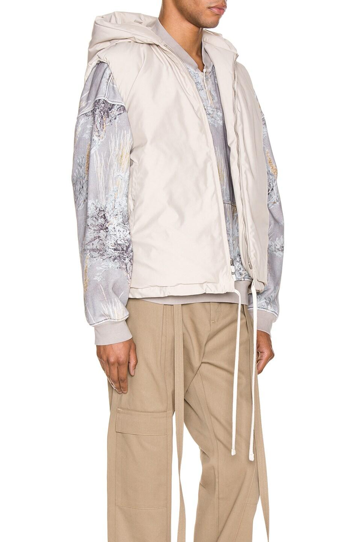 Image 3 of Fear of God Hooded Nylon Vest in Bone