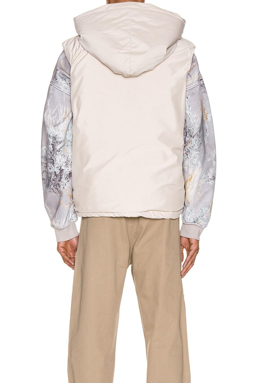 Image 4 of Fear of God Hooded Nylon Vest in Bone
