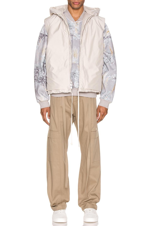 Image 5 of Fear of God Hooded Nylon Vest in Bone