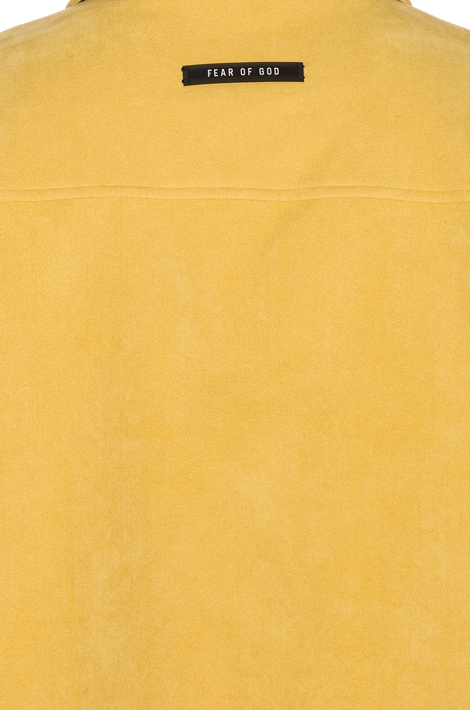 Image 6 of Fear of God Suede Shirt Jacket in Garden Glove Yellow