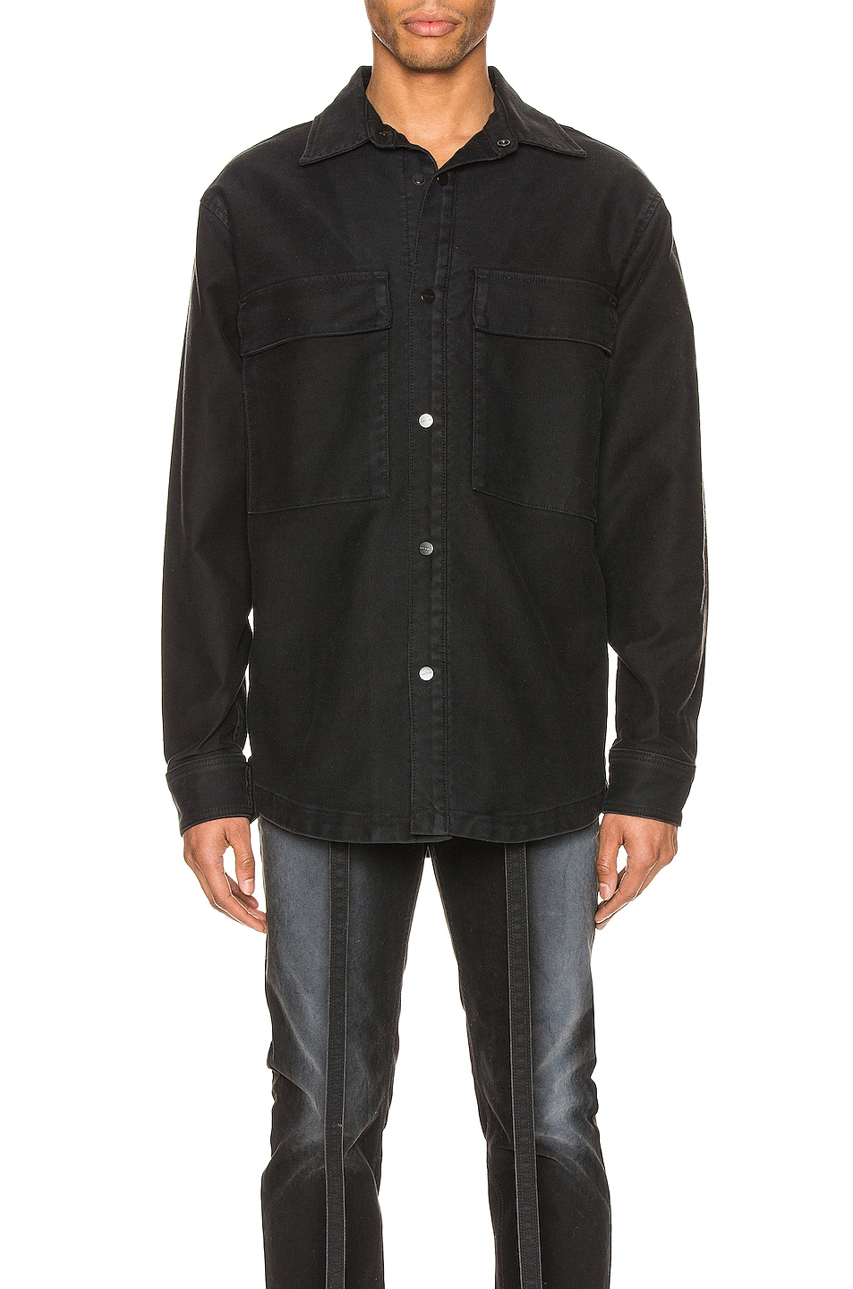 Image 1 of Fear of God Canvas Shirt Jacket in Black