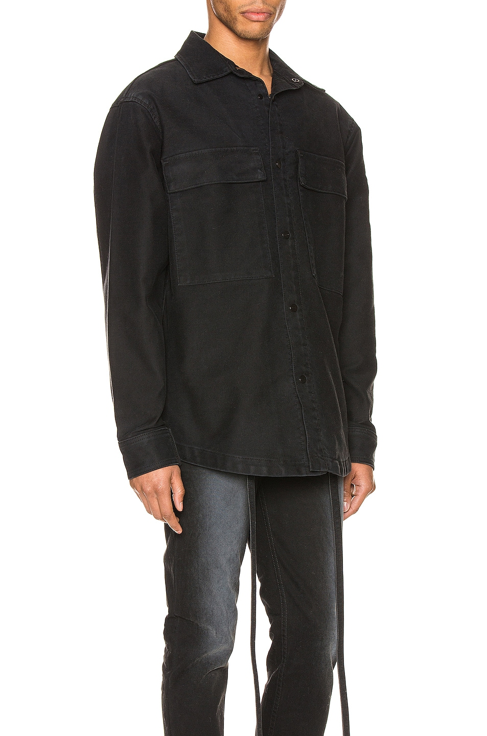 Image 3 of Fear of God Canvas Shirt Jacket in Black