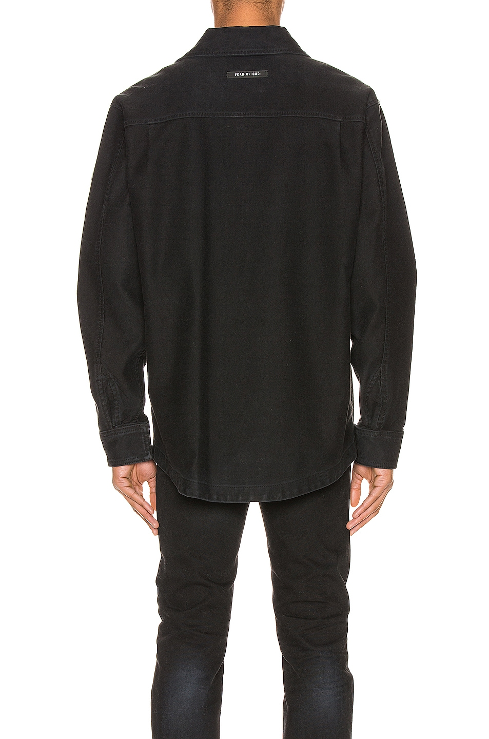 Image 4 of Fear of God Canvas Shirt Jacket in Black