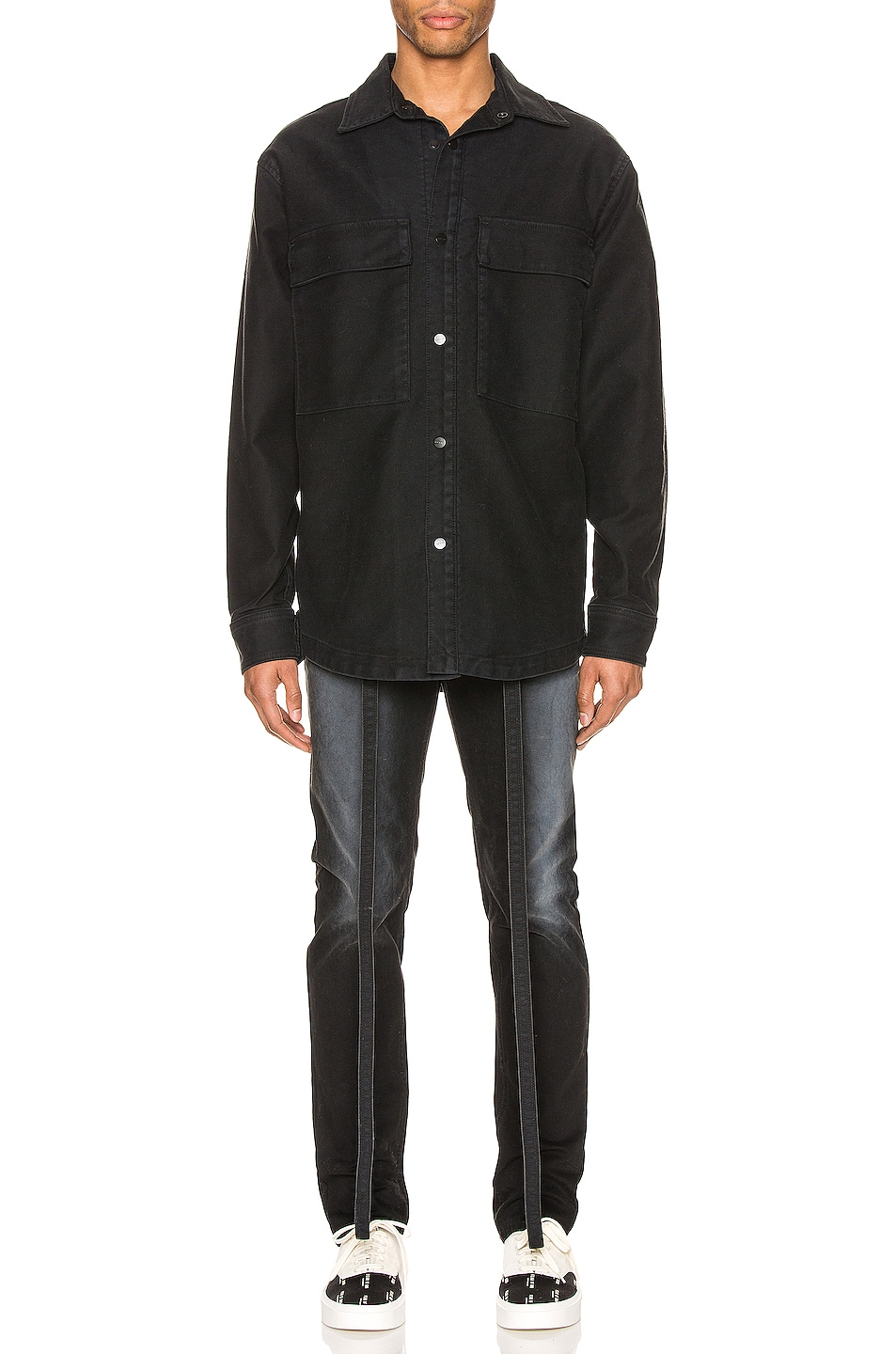 Image 5 of Fear of God Canvas Shirt Jacket in Black