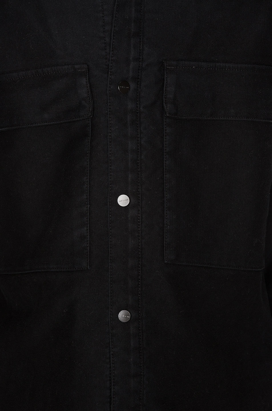 Image 6 of Fear of God Canvas Shirt Jacket in Black