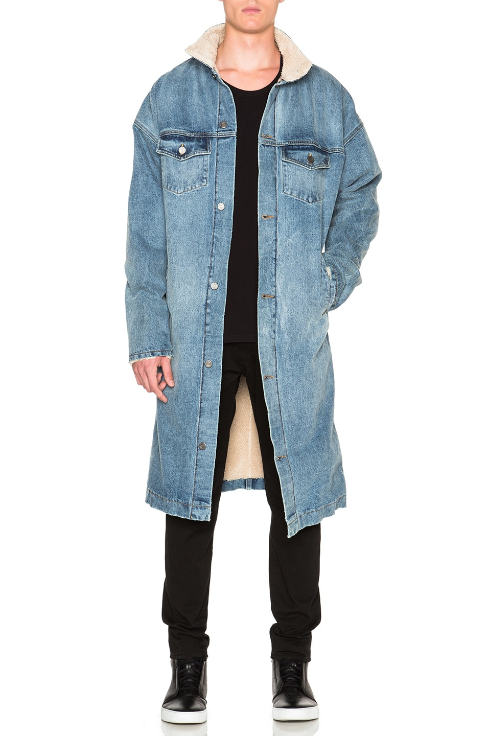 Image 1 of Fear of God Denim Deckcoat in Indigo