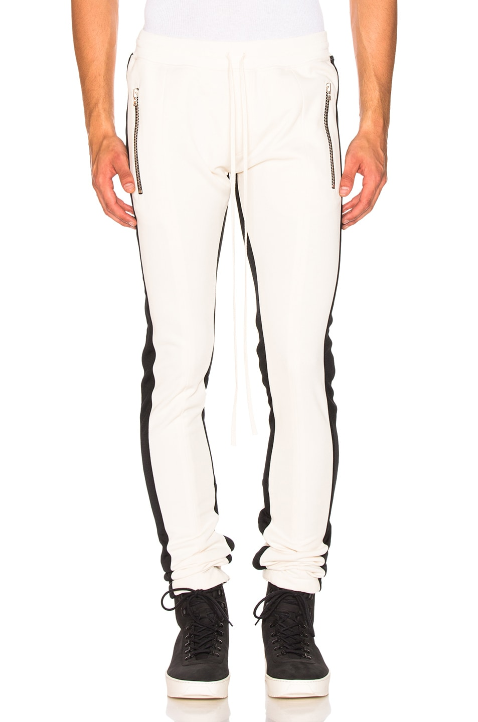 Fear of God Double Stripe Track Pant in Cream & Black | FWRD