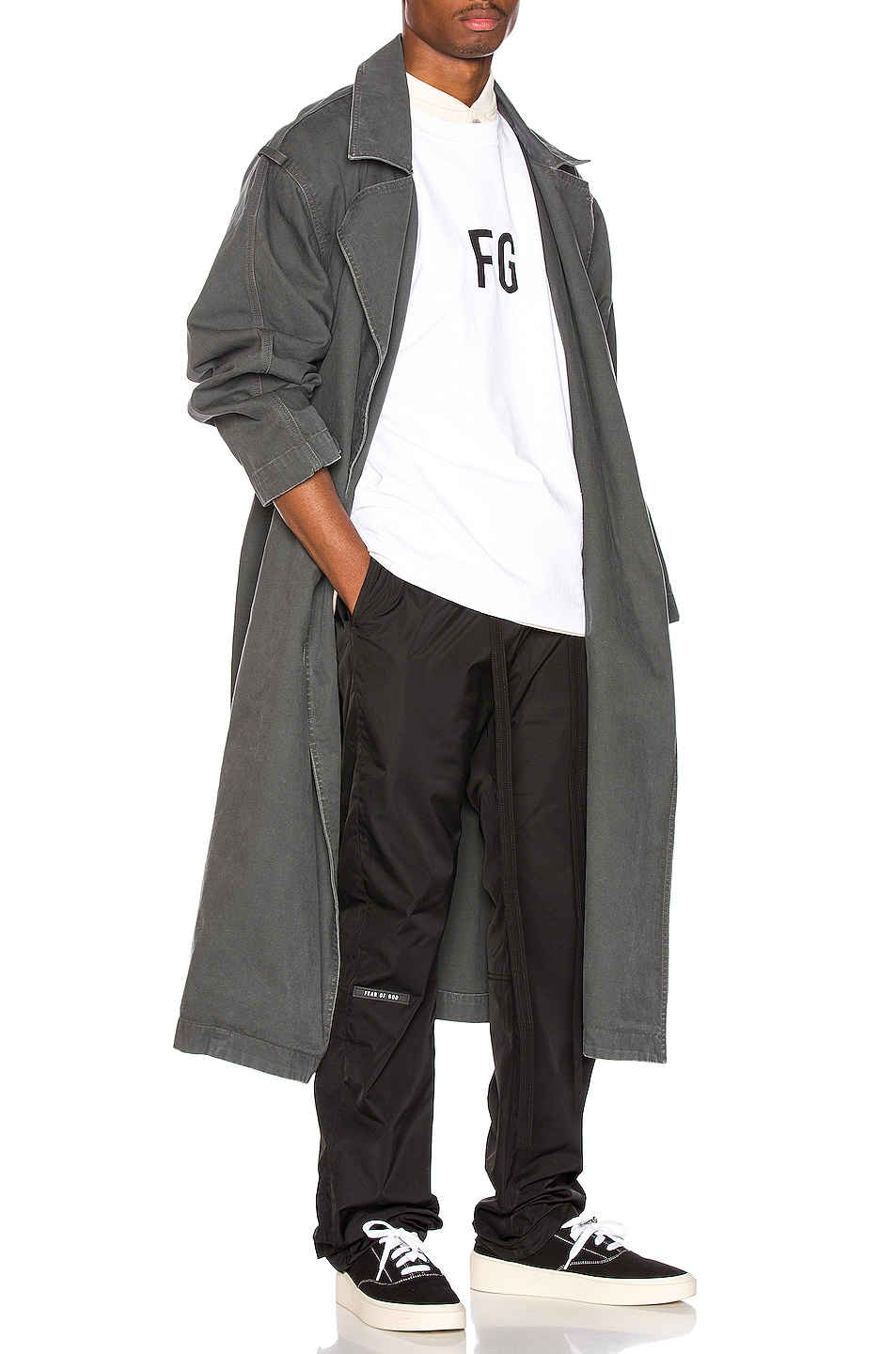 Image 4 of Fear of God Baggy Nylon Pant in Black